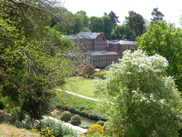 Quarry Bank Mill seen from the gardens.