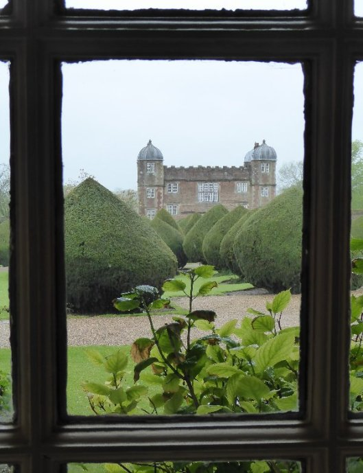 A view of the (also Jacobean) gatehouse from the Hall.