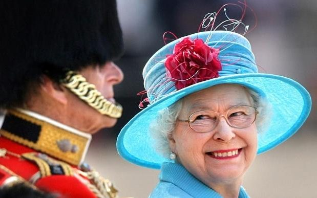 The Queen at the Trooping of the Colour (Daily Telegraph)
