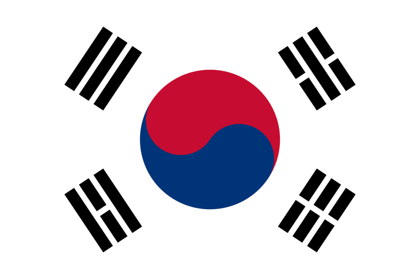South Korean flag.