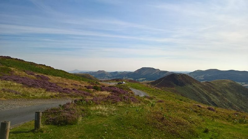 Our road from Church Stretton to the start of our Shropshire walk.