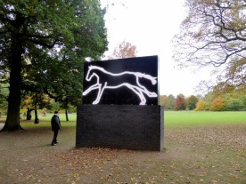 Julian Opie's LED 'Galloping Horse'.