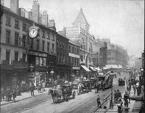 Briggate Leeds in the early 1900s (Leodis.net)