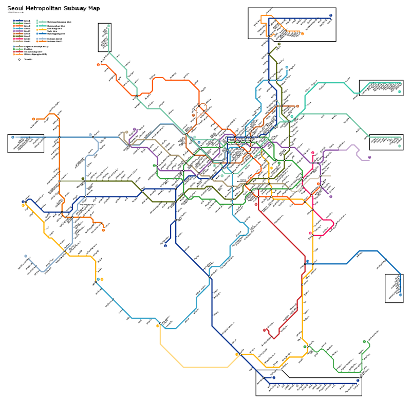 Seoul metro system.