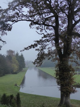 The canal at the centre of the water garden.
