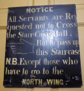 Rules below stairs.