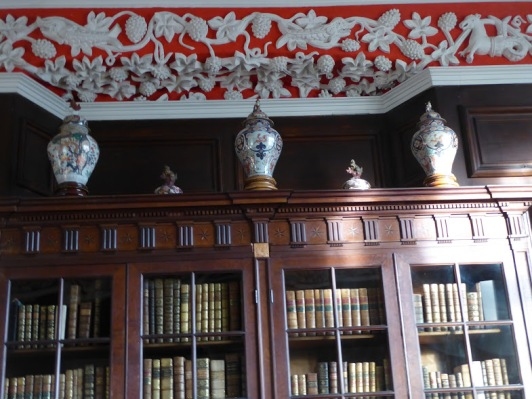 The house joiner made these made-to-measure bookcases during the Jacobean period