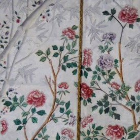 Pure silk wall covering.