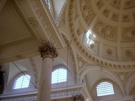 The dome and windows of St. Stephen's Walbrook (Wikimedia Commons)