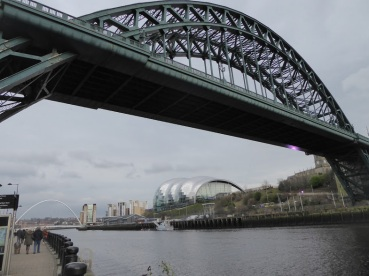 The Tyne Bridge, the Baltic Centre and the Millennium Bridge.
