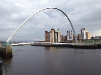 The Baltic Centre and the Millennium Bridge.