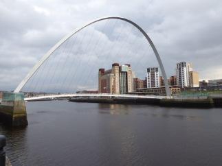 The Baltic Centre and the Millennium Bridge.