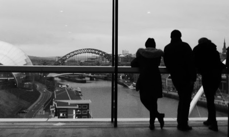 Looking along the Tyne from the Baltic Centre.