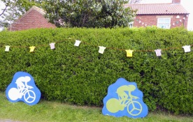 Our neighbours decorated their garden.