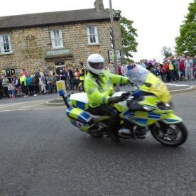 A policeman with a job to enjoy.