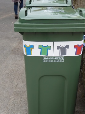 Tour de Yorkshire rubbish bin.