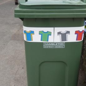 Tour de Yorkshire rubbish bin.