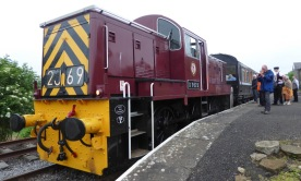 Our steam train was off for repair. This youngster dates from the 1960s.