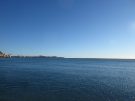 A view from the beach, Alicante.