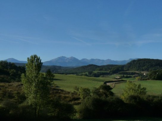 The Pyrenees seen from St. Julien de Gras Capou in summertime.