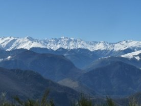 The Pyrenees seen from Croquié,
