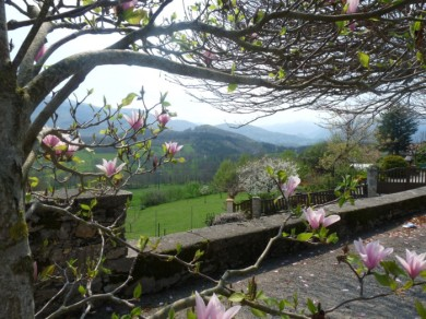 A view from a garden in the hills near Foix.