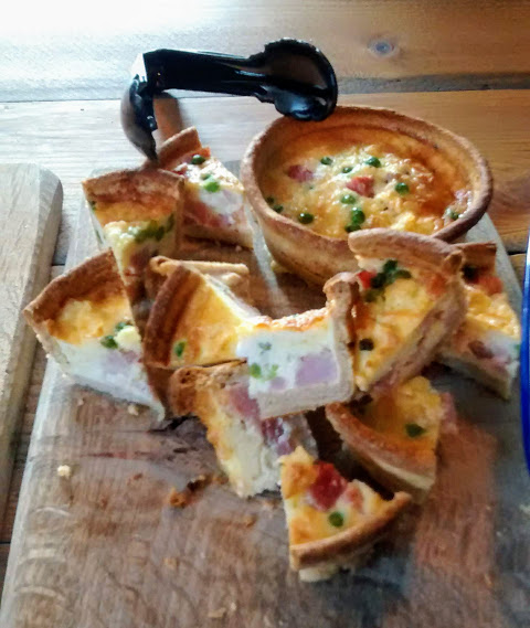 .... followed by a little bit of locally produced quiche.