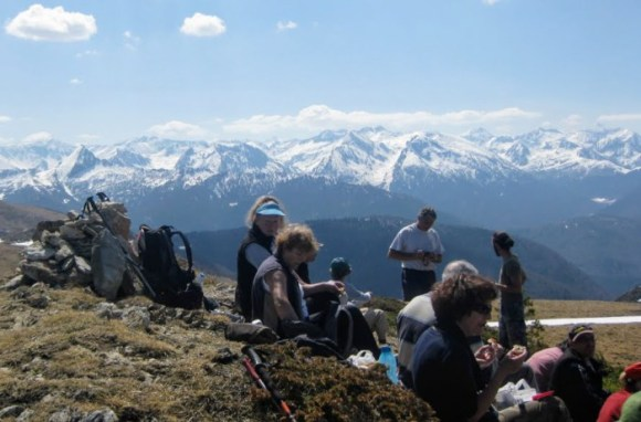 The best of times. Picnicking at lunchtime on our regular Sunday walks. Shared food, shared wine, shared landscapes.