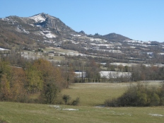 A less snowy day near Foix.