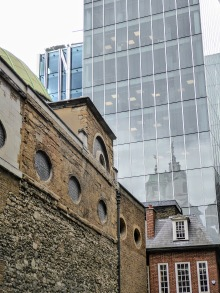 An office building and St. Stephen Walbrook.