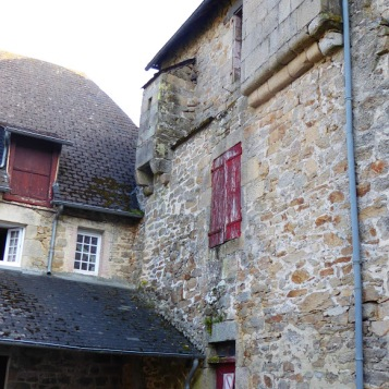 Near the town walls, a couple of houses still have evidence, high up, of the sanitary arrangements....