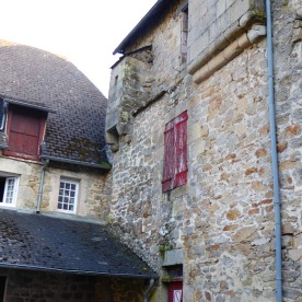 A cagadour, or latrine at the top of an old house in Corrèze.