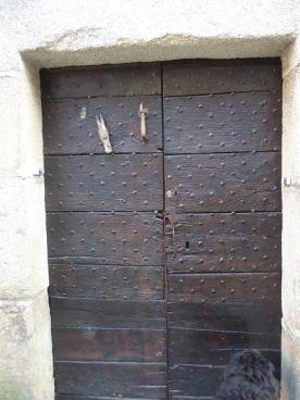 A town house door.