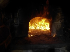 The oven...