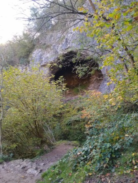 ... the caves...