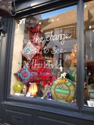 A shop window display.