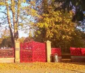 Park gates.