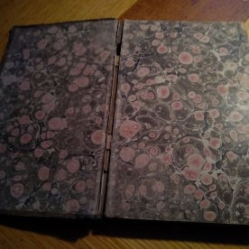 And here are the marbled endpapers.
