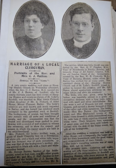 The marriage of Charles and Annie announced in the local paper.