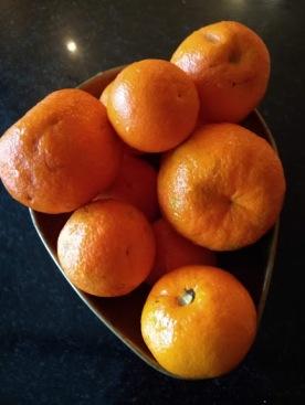 Foraged oranges.