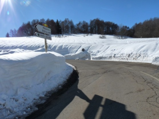 The road to the snowfields.