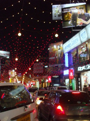 MG Road, Bangalore, during Diwali