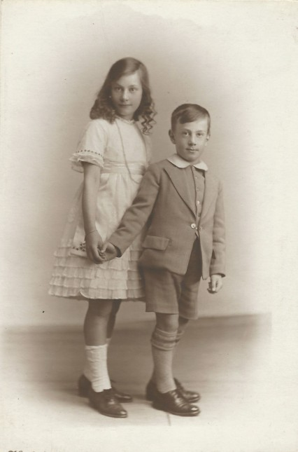 Betty and Arthur: probably taken in about 1920.