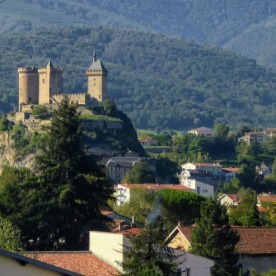 Foix: today's almost-finishing point.