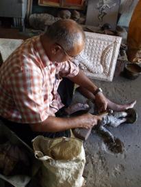 Bronze worker in Kumbakonam