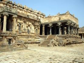 Dharasuram. The pavings were SO HOT on our bare feet!