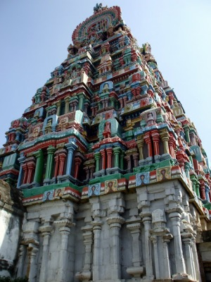 View of Nageshwara Temple, Kumbakonam