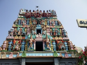 A Hindu temple in Chennai. Which one? Can't remember.