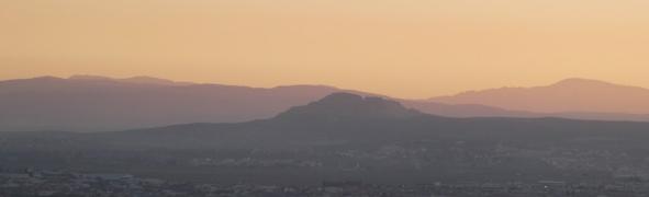 Sunset in Granada, March.
