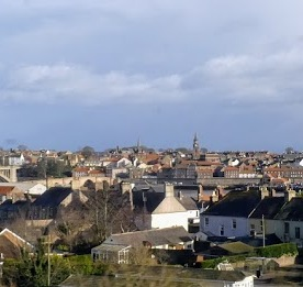 Berwick on Tweed from the train.